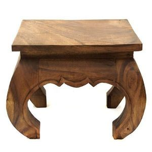 DECO PRIVE - table basse opium 40 x 40 cm en bois claire - Table Basse Carrée
