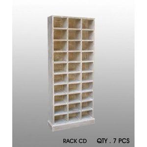 DECO PRIVE - meuble range cd bois ceruse - Range Cd