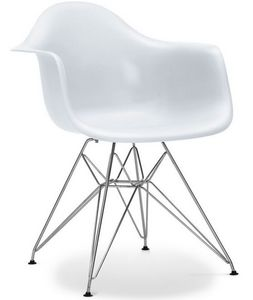 Charles & Ray Eames - chaise eiffel ar blanche charles eames lot de 4 - Chaise Réception