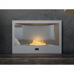 WHITE LABEL - chemine bio thanol classica blanc laque - Cheminée Sans Conduit D'évacuation