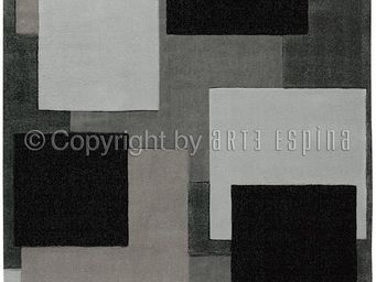 Arte Espina - tapis de chambre reflective 6 gris 120x180 en acry - Tapis Contemporain