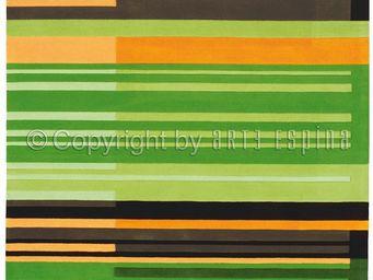 Arte Espina - tapis de petit tapis colour codes vert 70x140 en a - Tapis Contemporain