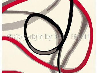 Arte Espina - tapis de petit tapis red trace 1 blanc 70x140 en a - Tapis Contemporain