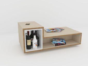 MALHERBE EDITION - caisson laqué lb2 - Table Basse Bar