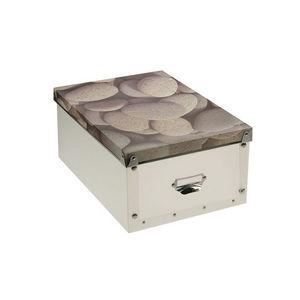 WHITE LABEL - boîte pliable zénitude motif pierre chaude - Boite De Rangement