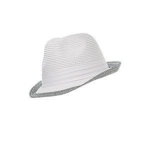 WHITE LABEL - chapeau trilby mixte polyester bord ton sur ton - Chapeau