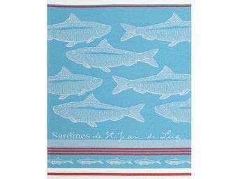 Jean Vier - arnaga sardine bleu - Torchon
