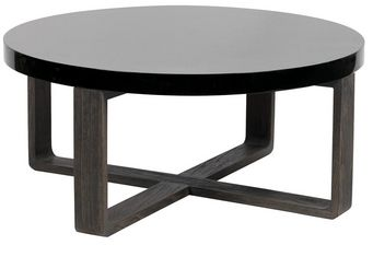 BLANC D'IVOIRE - mitty - Table Basse Ronde