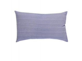 BLANC D'IVOIRE - coussin ikat indigo - Coussin Rectangulaire