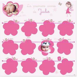 BABY SPHERE - cadre ma 1ère année - princesse des fleurs - Pêle Mêle Enfant
