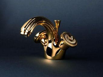 Cristal Et Bronze - bonroche - Mélangeur Lavabo 1 Trou