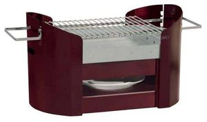 DHO - Don Hierro - barbecue portatif en acier galvanisé rouge foxy 70 - Barbecue Au Charbon