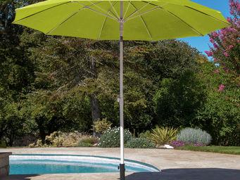 PROLOISIRS - parasol rond 2,70m anis avec baleines fibre de ver - Parasol