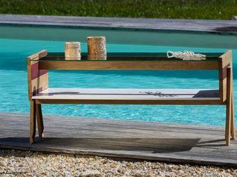 DOUELLES AND DESIGN - la co - Table Roulante De Jardin