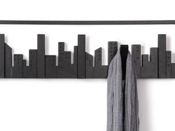 Umbra - porte-manteaux noir skyline 5 crochets 49,5x8x14,5 - Portemanteau