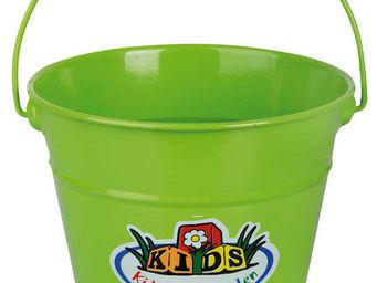 KIDS IN THE GARDEN - seau en zinc vert pour enfant 18,5x15cm - Seau
