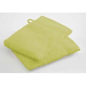 TODAY - lot de 2 gants de toilette - couleur - vert - Serviette De Toilette