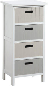 Aubry-Gaspard - commode 4 tiroirs en medium tradition - Colonne De Rangement Simple De Salle De Bains