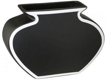 La Chaise Longue - vase grafyk 25 noir - Vase � Fleurs
