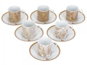 La Chaise Longue - set de 6 tasses et sous-tasses parisiennes - Tasse � Caf�