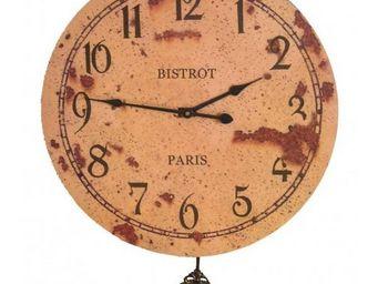 L'HERITIER DU TEMPS - horloge murale bistrot paris 46cm - Horloge Murale