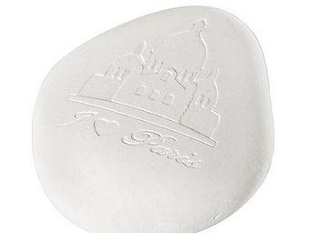 Mathilde M - galet en plâtre parfumé poudre de riz, décoré pari - Céramique Parfumée