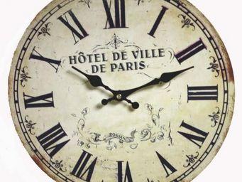 L'HERITIER DU TEMPS - horloge bois paris ø34cm - Horloge Murale