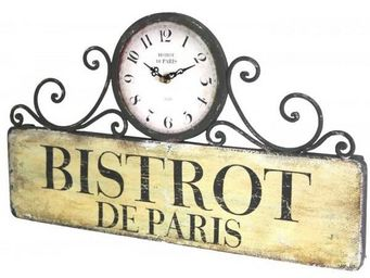 L'HERITIER DU TEMPS - horloge en fer style brocante - Horloge Murale