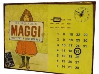 L'HERITIER DU TEMPS - calendrier-pendule plaque pub maggi - Horloge Murale