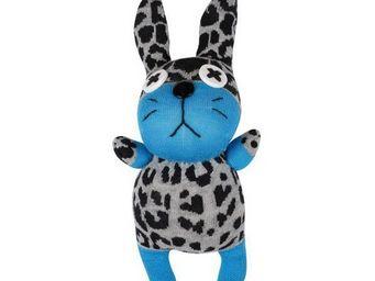 La Chaise Longue - doudou lapin bleu - Peluche