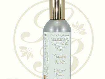 Savonnerie De Bormes - brume de voilage - poudre de riz - 100 ml - savonn - Parfum D'int�rieur