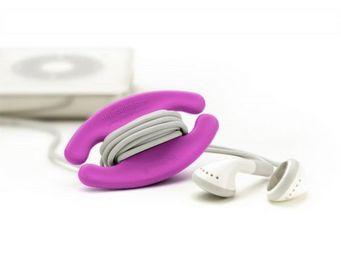 bobino - enrouleur de câble bobino small fuschia - Porte Téléphone Mobile
