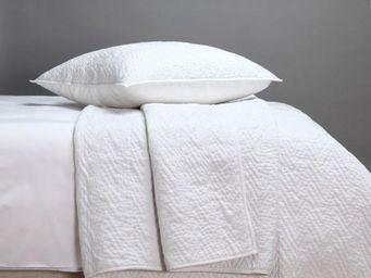 BLANC D'IVOIRE - andre coton blanc - Jeté De Lit