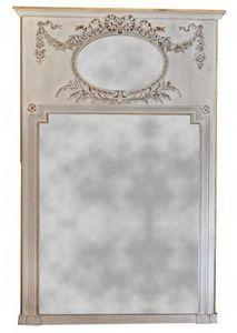 Demeure et Jardin - trumeau gris louis xvi grand modèle - Trumeau