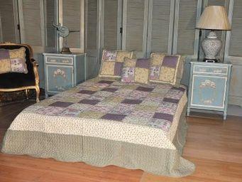Demeure et Jardin - boutis king size patchwork mauve - Boutis