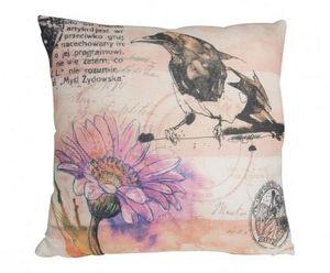 Demeure et Jardin - coussin imprim� oiseau - Coussin Carr�