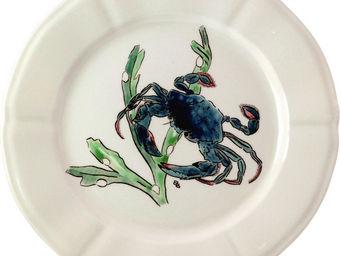 Gien - crabe bleu - Assiette Plate