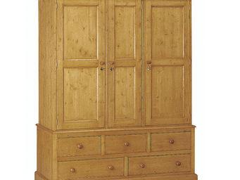 Interior's - armoire 3 portes 5 tiroirs - Armoire À Portes Battantes