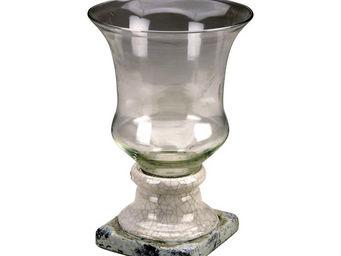 Interior's - vase à pied blanc - Vase À Fleurs