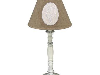 Interior's - lampe blanc vieilli - Lampe � Poser