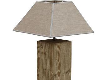 Interior's - lampe en bois origine - Lampe À Poser