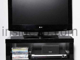 WHITE LABEL - meuble tv design mobile elegance avec rangements l - Meuble Tv Hi Fi
