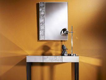 WHITE LABEL - un ensemble console miroir design - Console