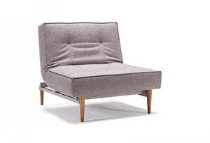 INNOVATION - splitback fauteuil design gris convertible lit pie - Fauteuil Bas