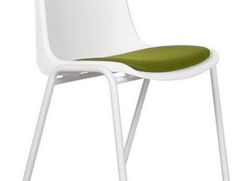 ZUIVER - chaise zuiver back to gym blanche et verte - Chaise