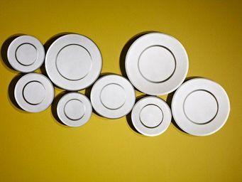 WHITE LABEL - bulles miroir mural design en verre biseauté - Miroir