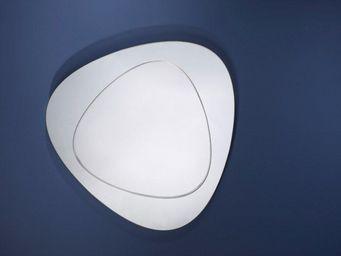 WHITE LABEL - lantern miroir mural design en verre biseauté - Miroir