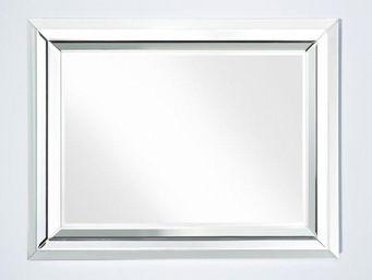 WHITE LABEL - right miroir mural design en verre - petit modèle - Miroir