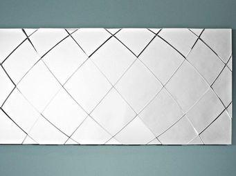 WHITE LABEL - tracks miroir mural design en verre (grand modèle) - Miroir