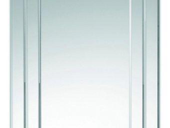 WHITE LABEL - stripes miroir mural design en verre cadre large - Miroir